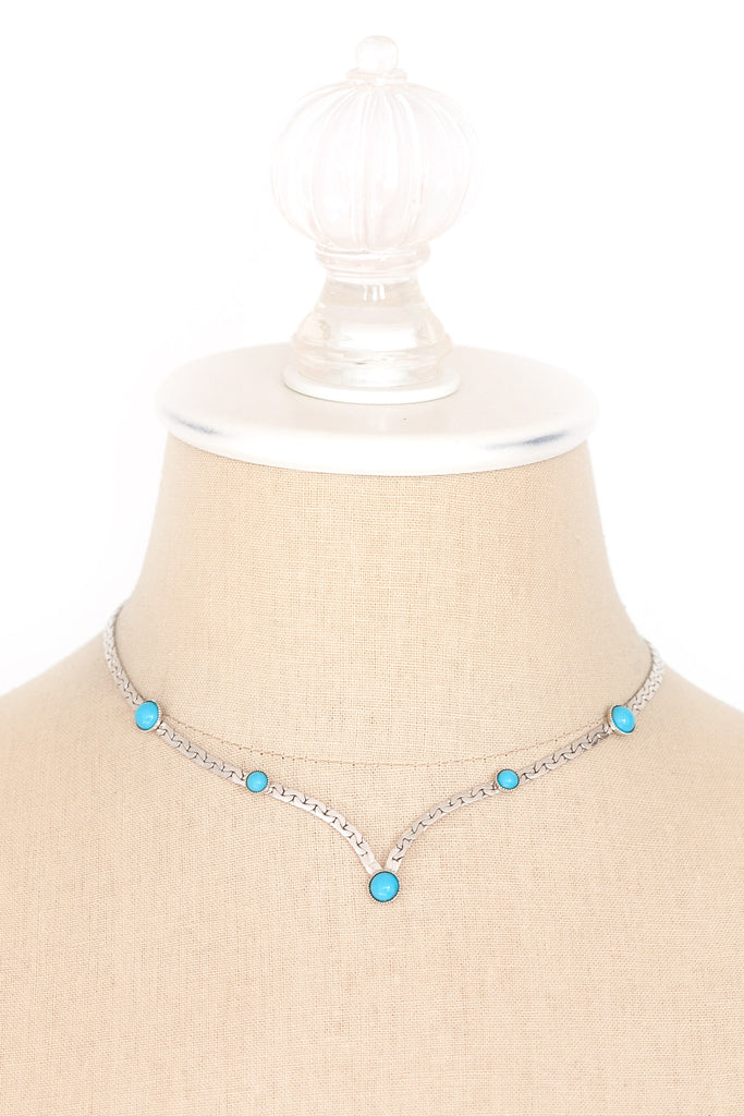 70's__Sarah Coventry__Turquoise Drop Necklace