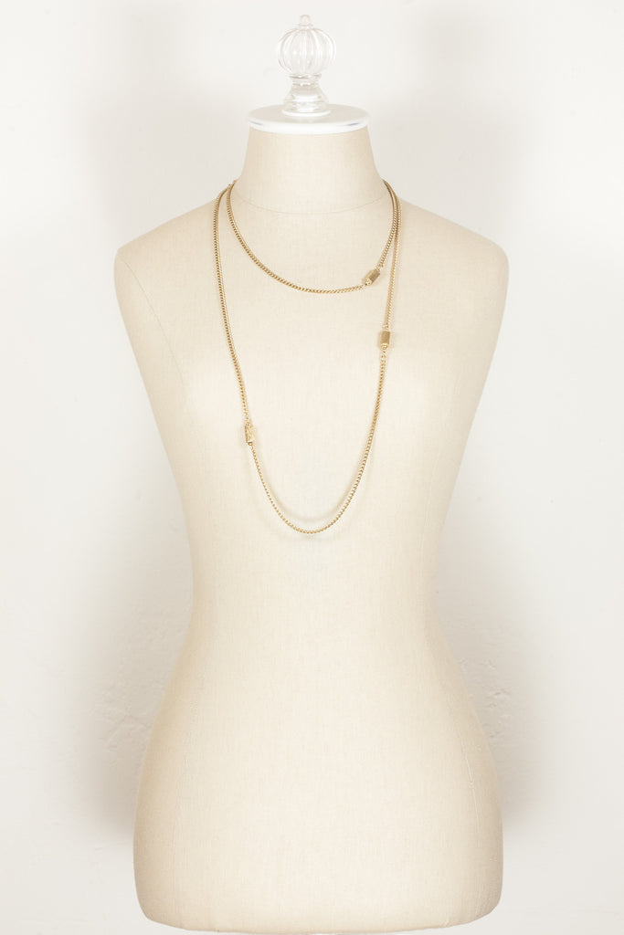 70's__Monet__Gold Bead Chain
