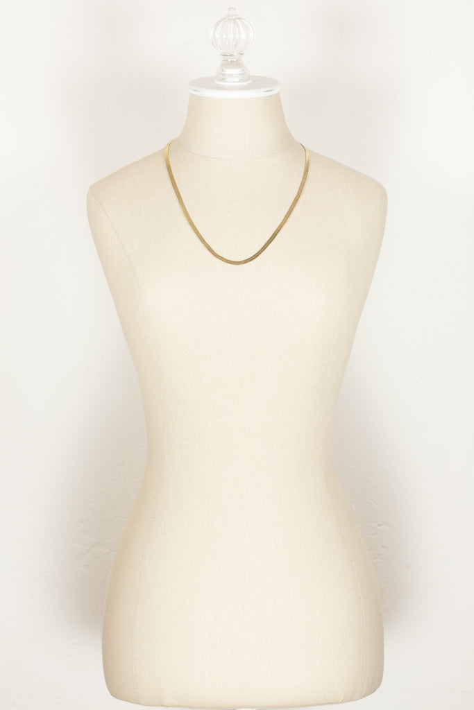 80's__Monet__Classic Flat Snake Chain Necklace
