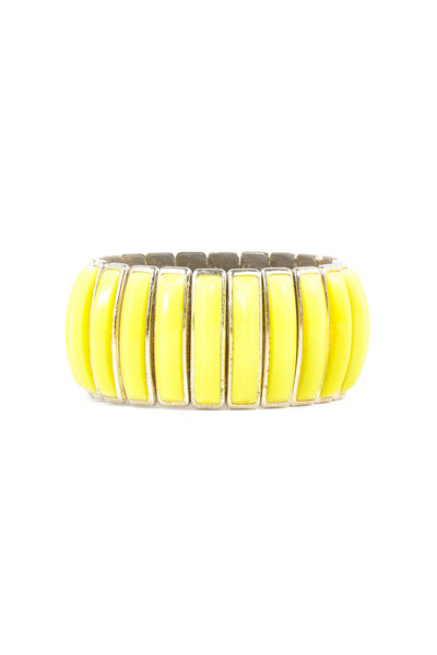 70's__Vintage__Bold Yellow Stretch Cuff