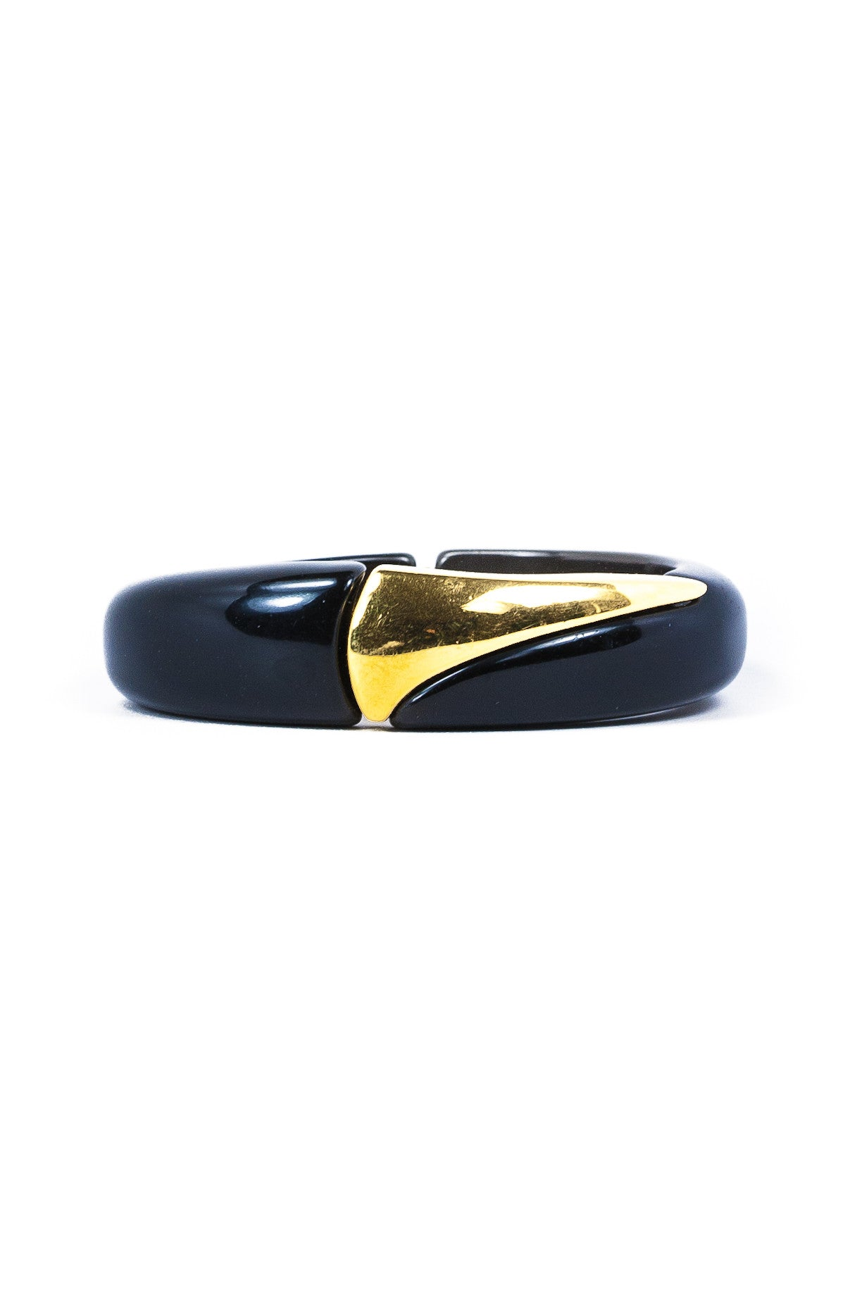 70's__Vintage__Black & Gold Bangle