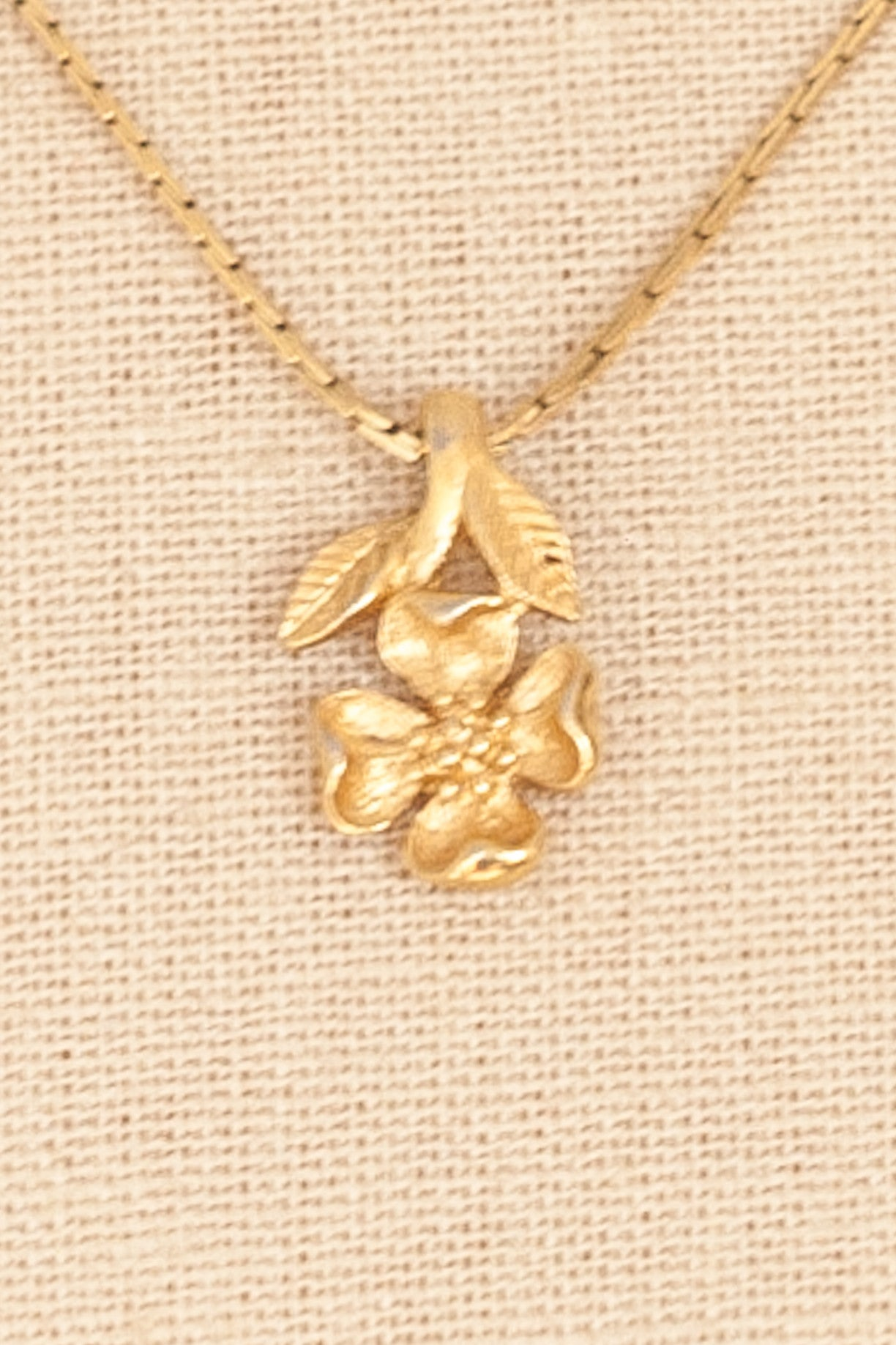 50's__Trifari__Dainty Floral Necklace