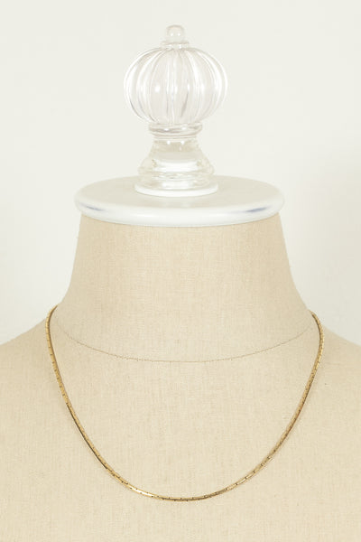 60's__Monet__Dainty Gold Chain Necklace