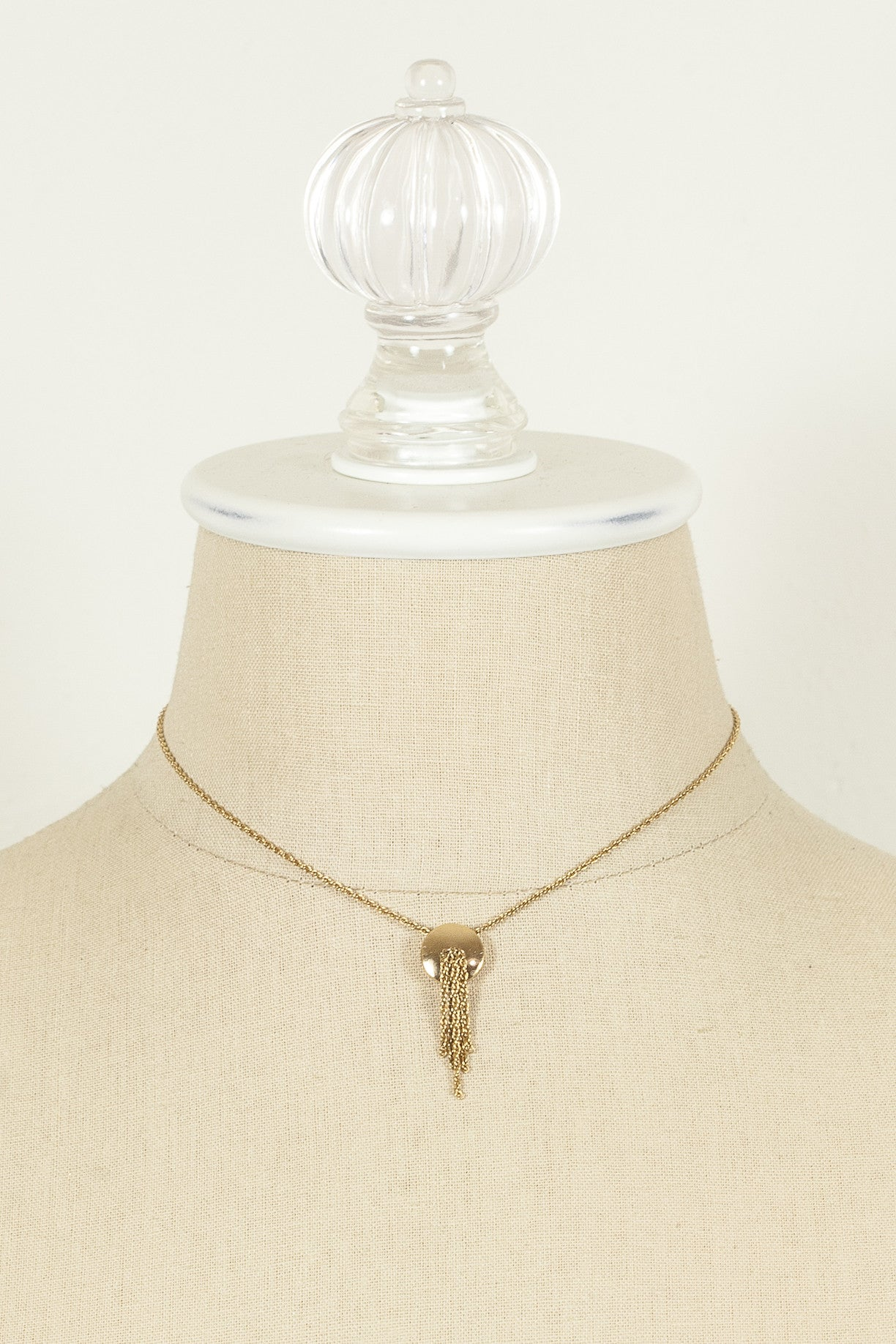 Vintage Monet Dainty Tassel Charm Necklace