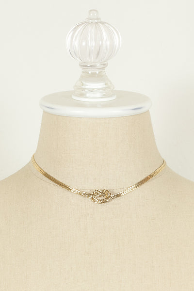 70's__Napier__Flat Chain Knot Necklace