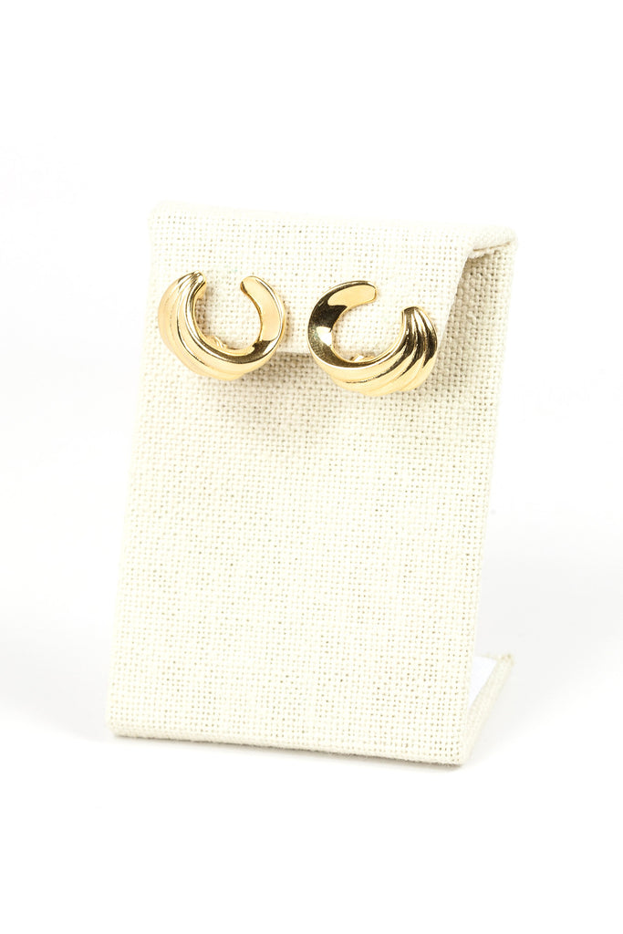70's__Monet__Classic Swirl Clip On Earrings