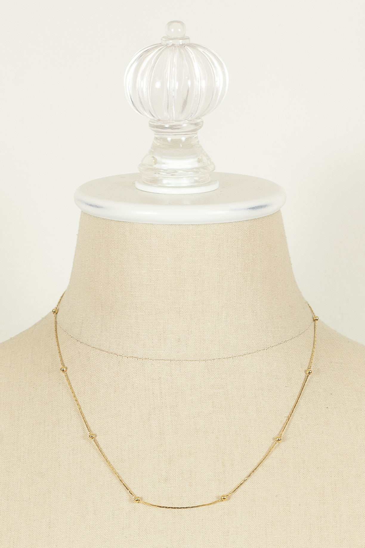70's__Monet__Dainty Ball Chain Necklace