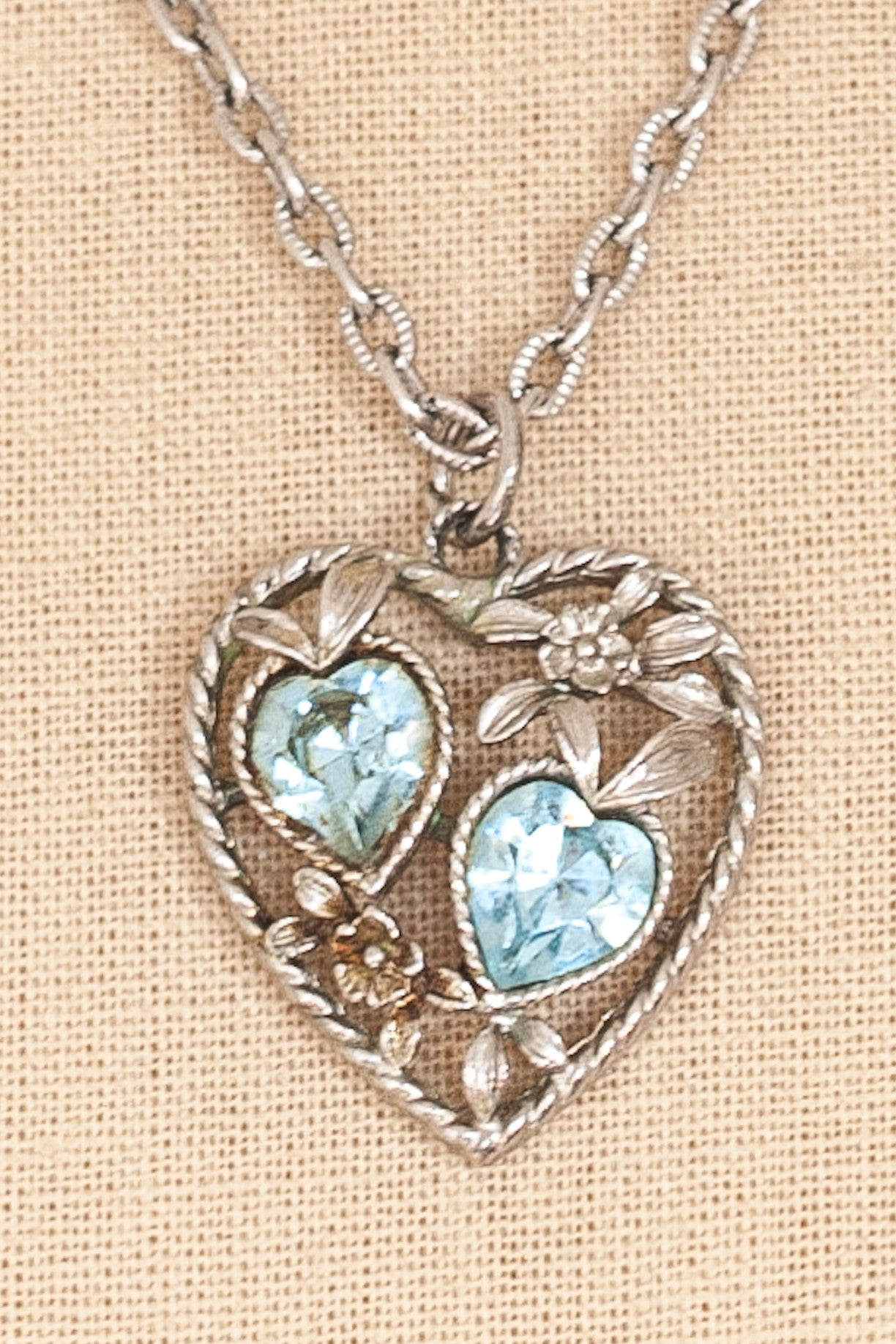 60's__Sarah Coventry__Blue Hearts Necklace