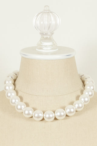 80's __Anne Klein__Statement Pearl Necklace