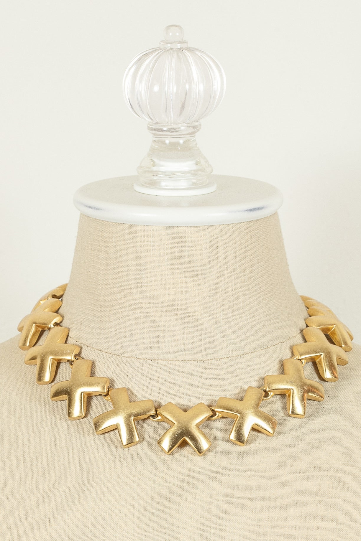 80's__Anne Klein__Bold X Necklace