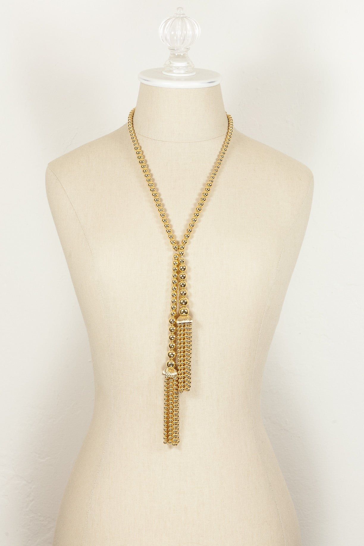 80's__Joan Rivers__Wrap Tassel Necklace