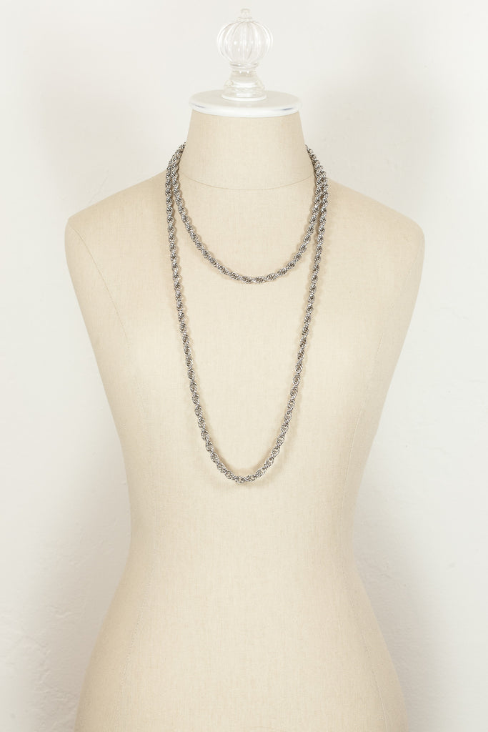 70's__Monet__Silver Rope Chain