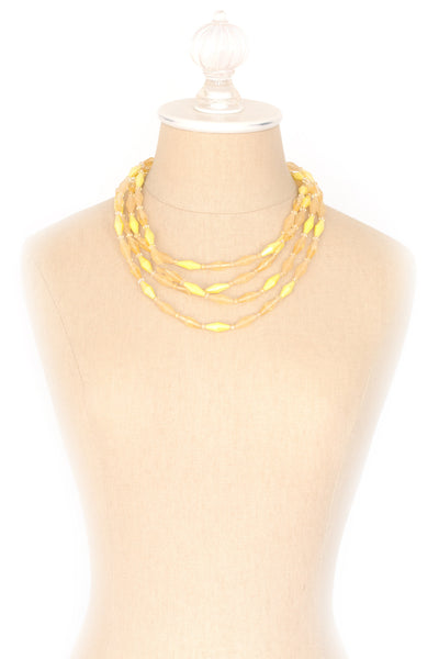 50's__Vintage__Yellow Multi Necklace