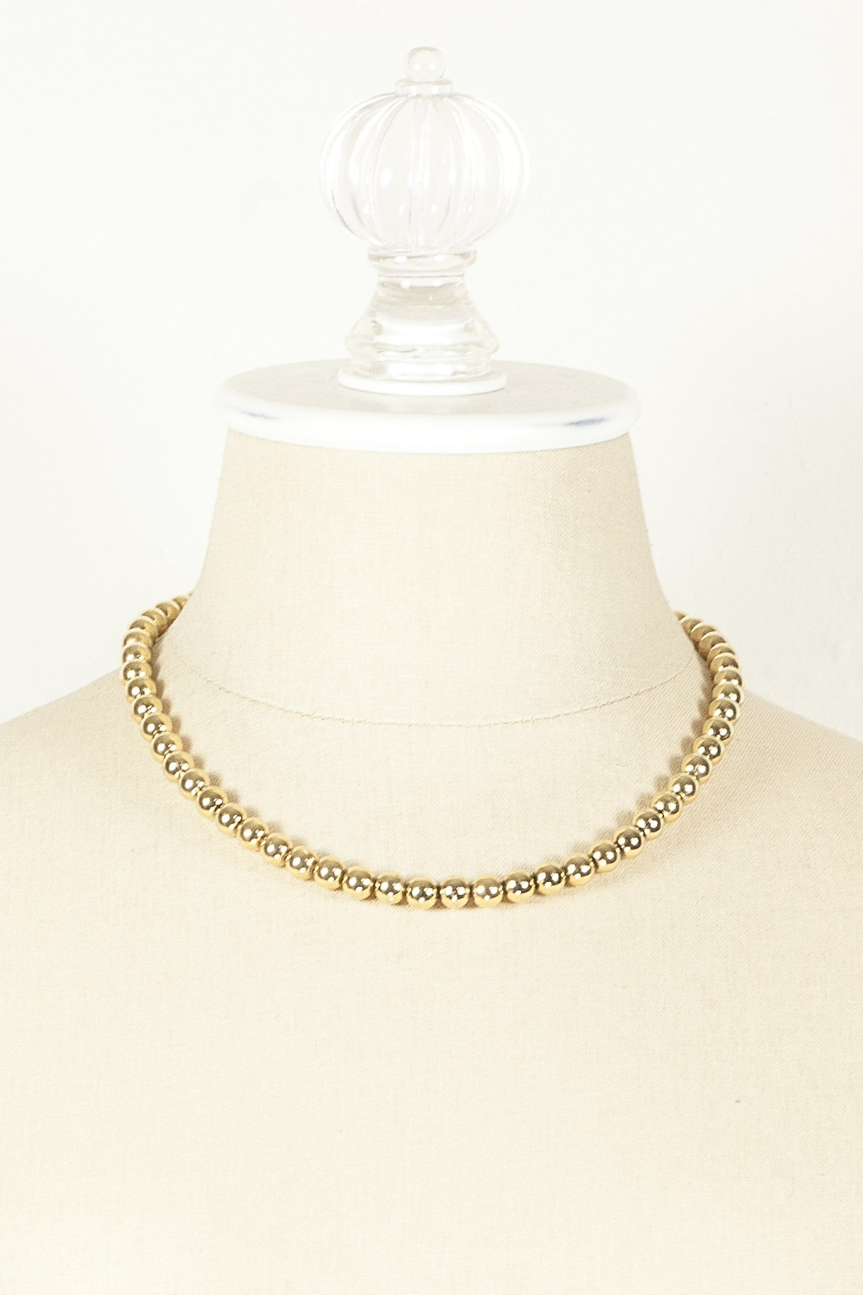 70's__Napier__Classic Gold Ball Necklace