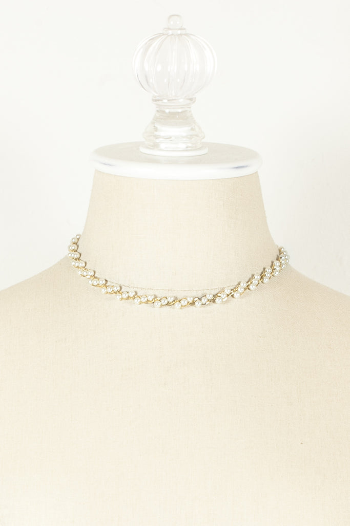 70's__Napier__Gold & Pearl Necklace
