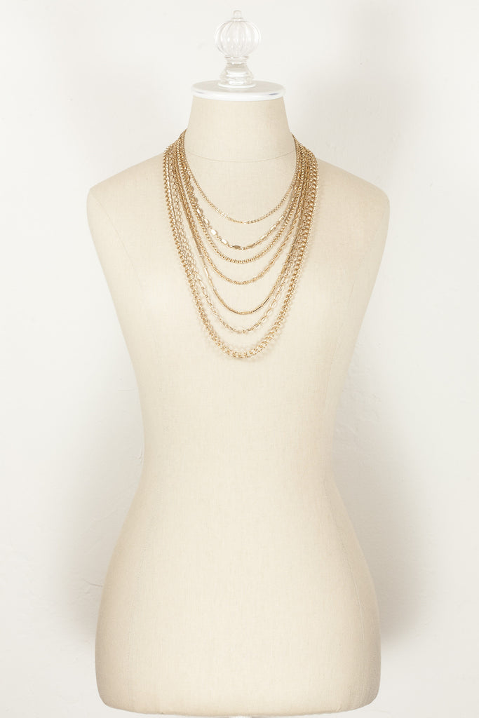 70's__Napier__Multi Chain Necklace