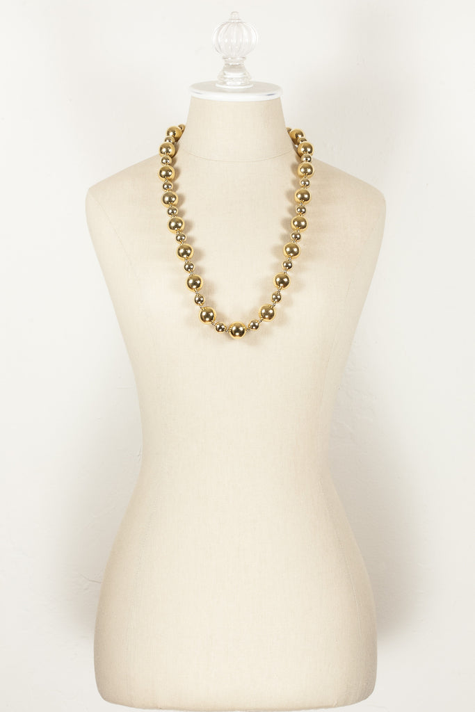 70's__Napier__Bold Ball Necklace