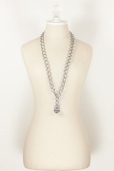70's__Vintage__Silver Open Link Necklace