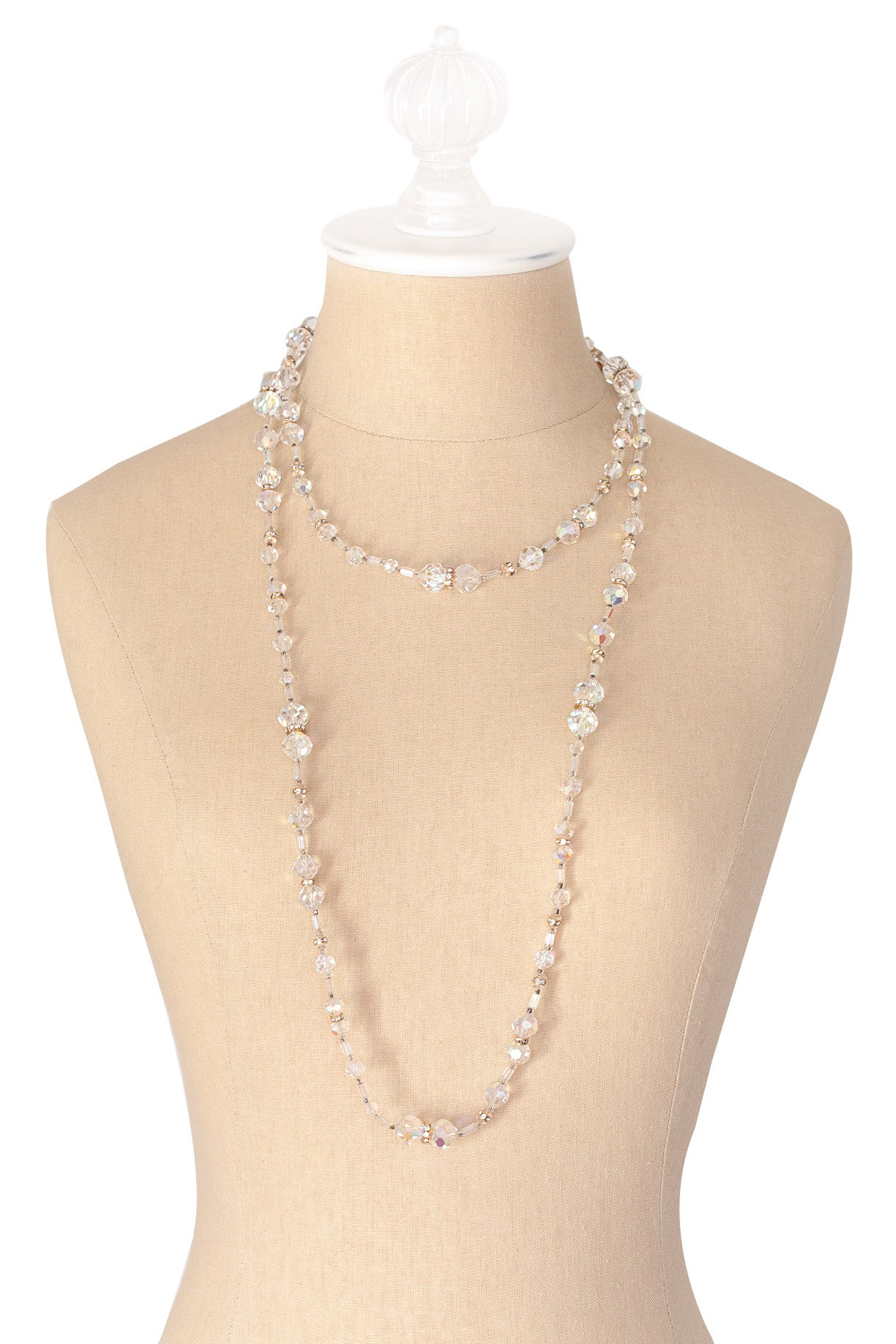 50's__Vendome__Long Crystal Necklace