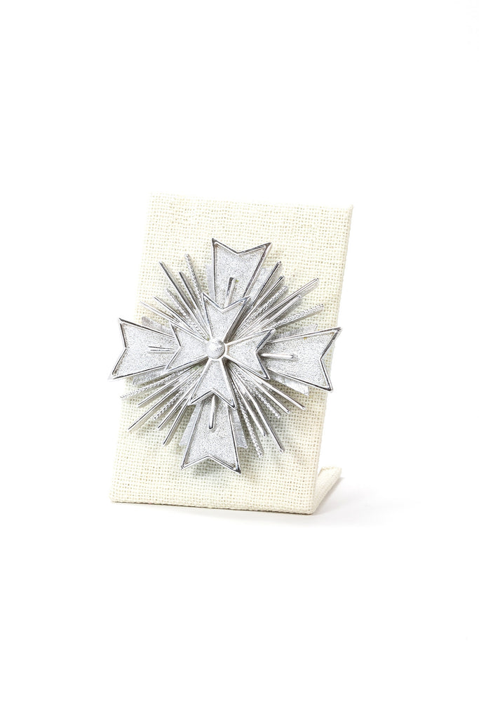 80's__Monet__Bold Silver Star Burst Brooch