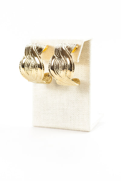 80's__Vintage__Bold Statement Hoop Earrings