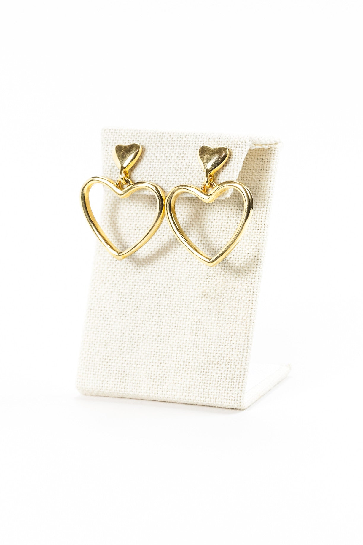 Vintage Anne Klein Heart Drop Earrings