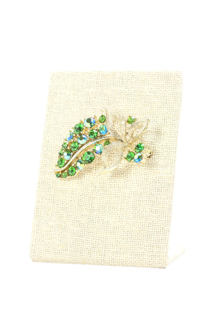 50's__Lisner__Emerald Brunches Brooch