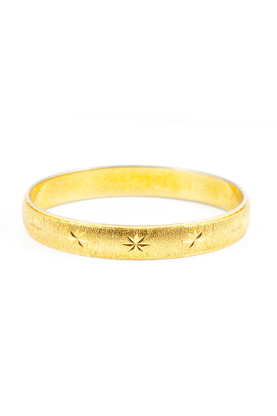 70's__Monet__Etched Star Bangle