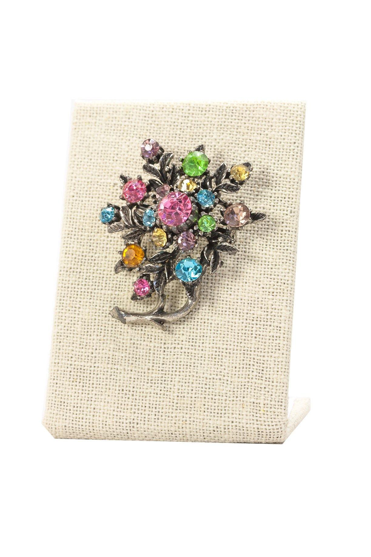 50's__Coro__Multi Color Bunches Brooch