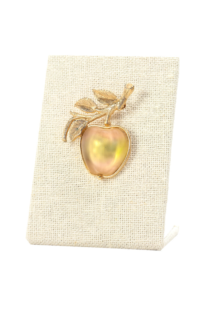 60's__Sarah Coventry__Apple Brooch