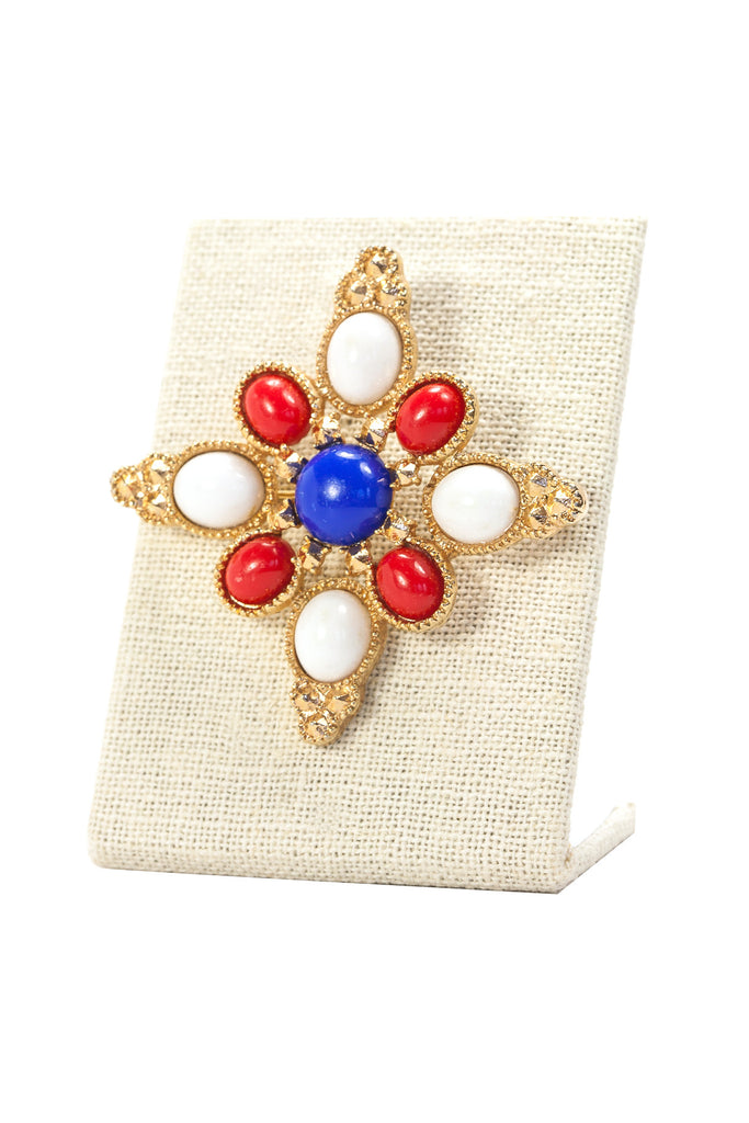 70's__Sarah Coventry__Red, White & Blue Brooch