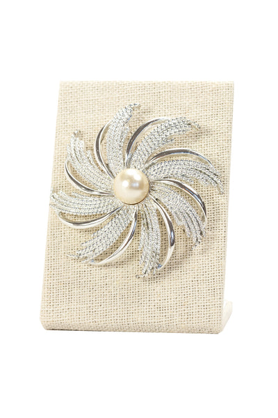 70's__Sarah Coventry__Pearl Swirl Brooch