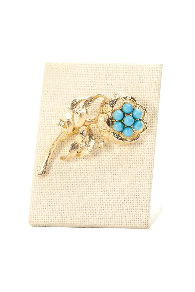 60's__Sarah Coventry__Teal Burst Brooch