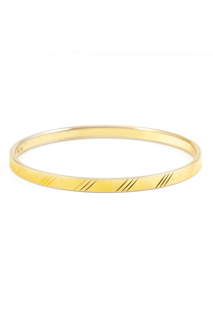 70's__Monet__Diagonal Stripe Bangle