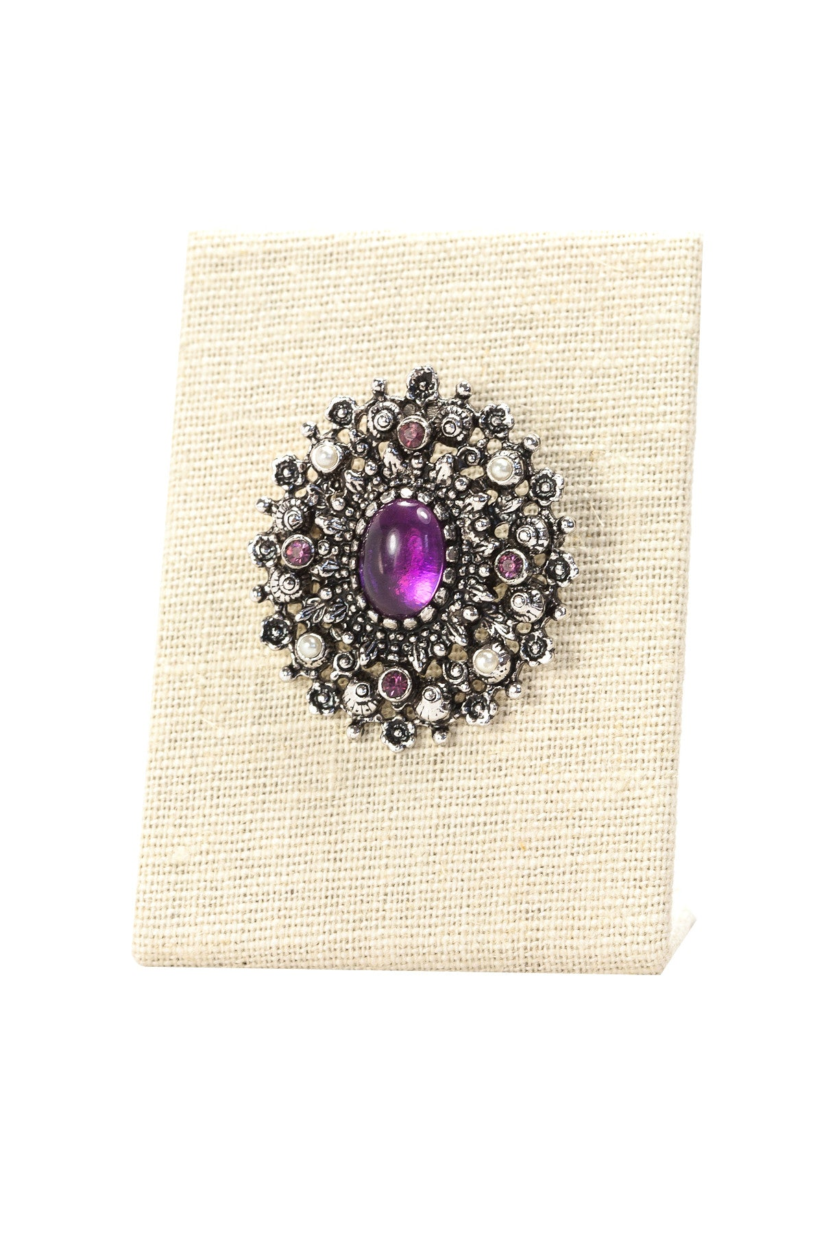 60's__Sarah Coventry__Amethyst Burst Brooch