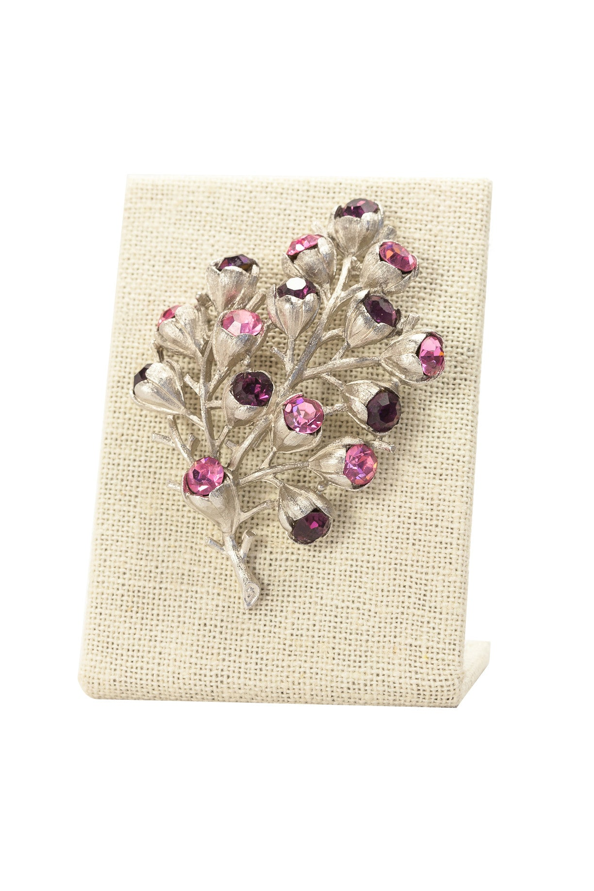 60's__Sarah Coventry__Rhinestone Bunches Brooch