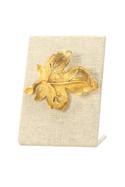 60's__BSK__Leaf Brooch