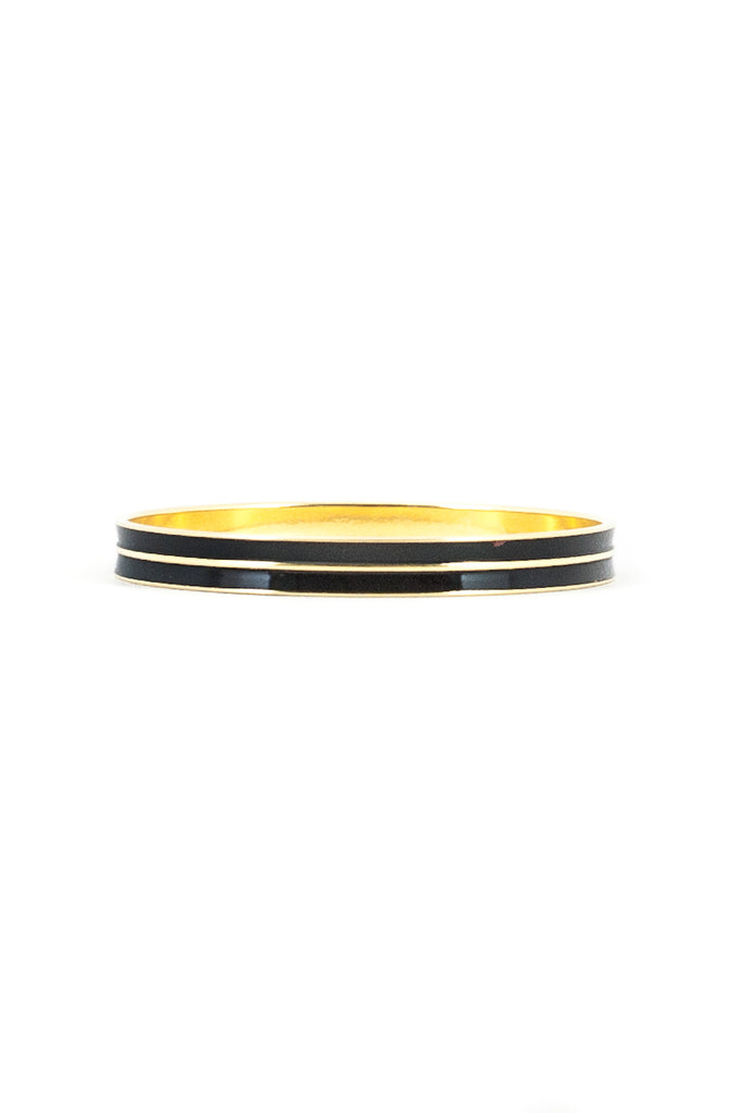 80's__Monet__Black Enamel Bangle