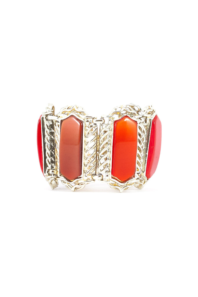60's__Vintage__Red Statement Bracelet