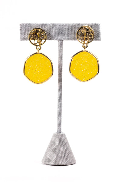 60's__Sarah Coventry__Amber Drop Clip-on Earrings