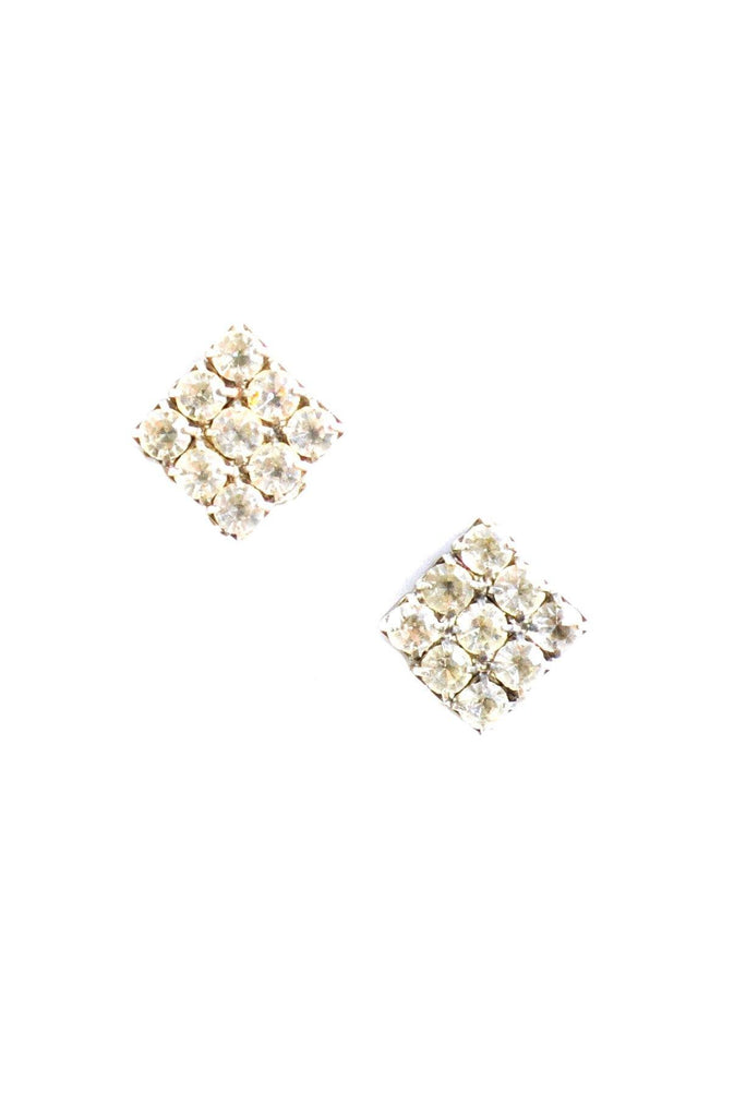 60s__Vintage__Mini Rhinestone Clip-On Earrings