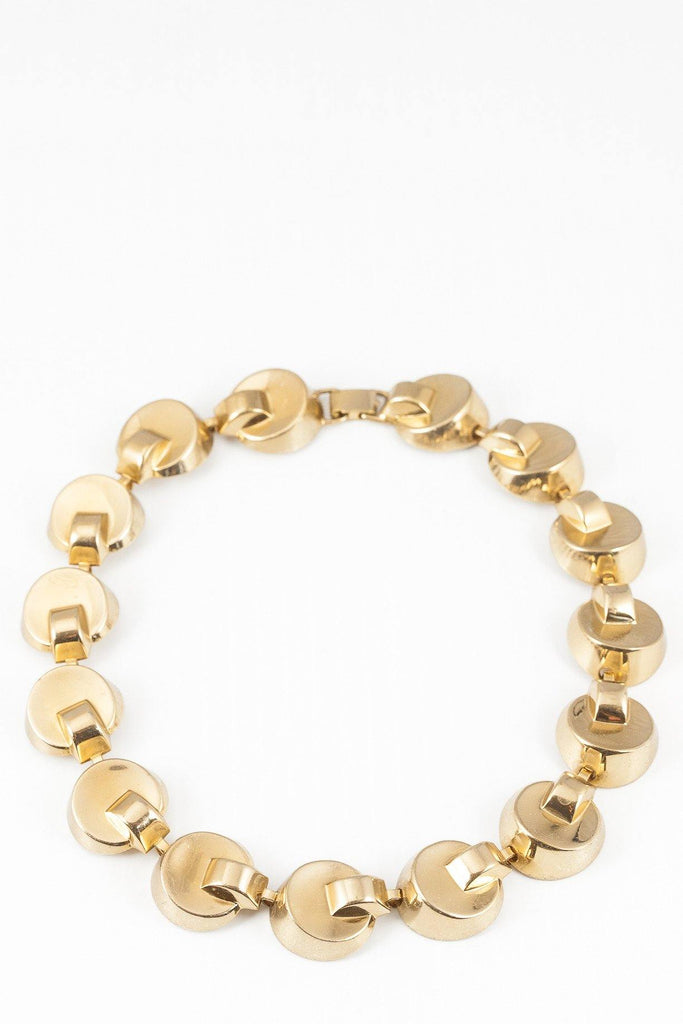 40's__Monet__Chunky Circle Link Necklace