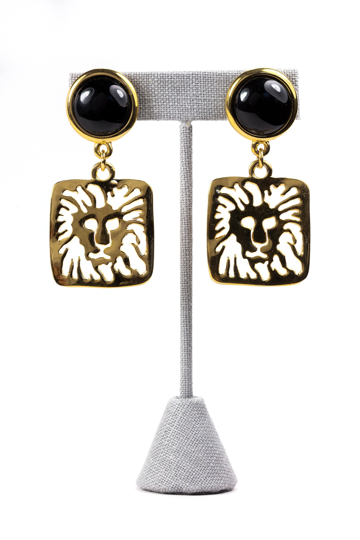 90's__Vintage__Lion Drop Earrings