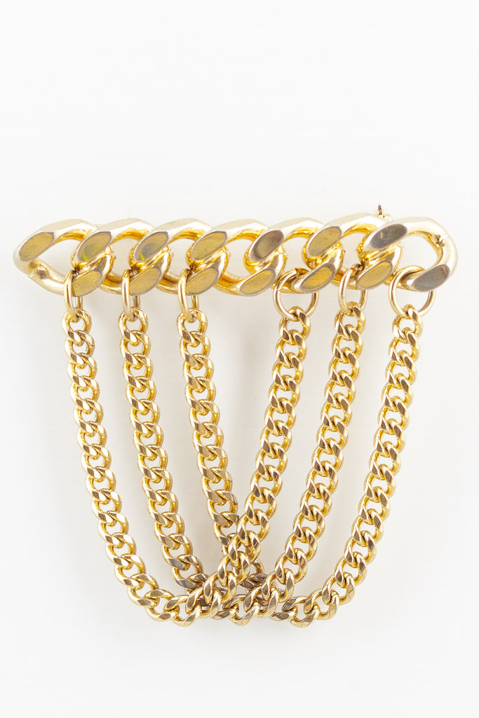 80's__Vintage__Edgy Chain Pin