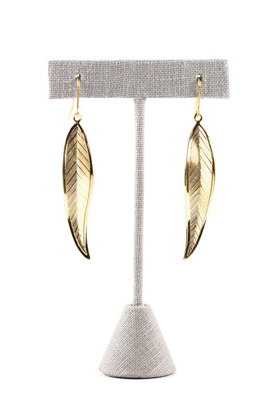 70's__Monet__Simple Feather Earrings