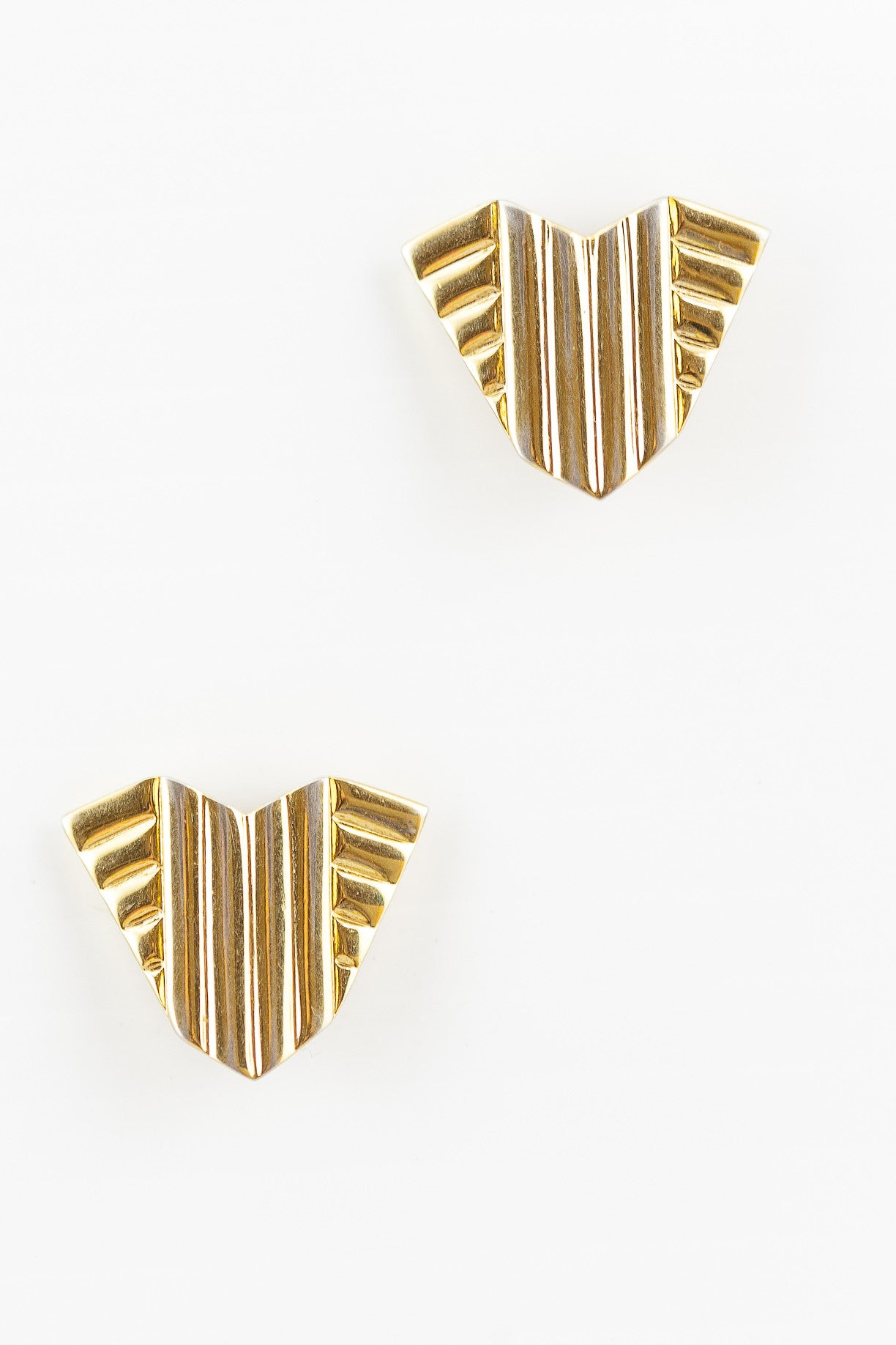 70's__Vintage__Deco Shield Earrings
