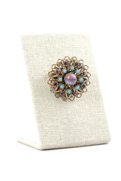 50's__Vintage__Purple Burst Brooch