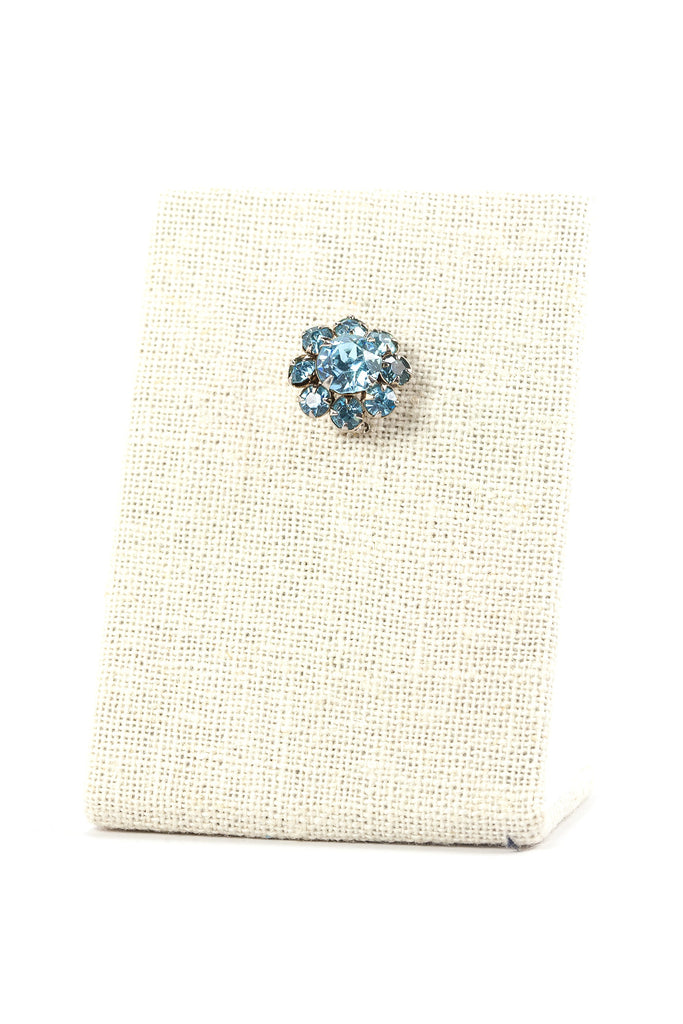 50's__Vintage__Mini Blue Rhinestone Brooch
