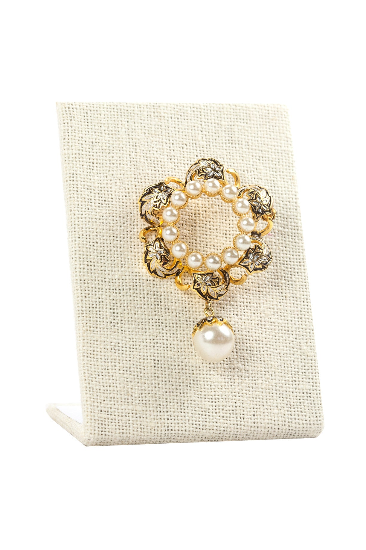 50's__Spain__Pearl Drop Brooch