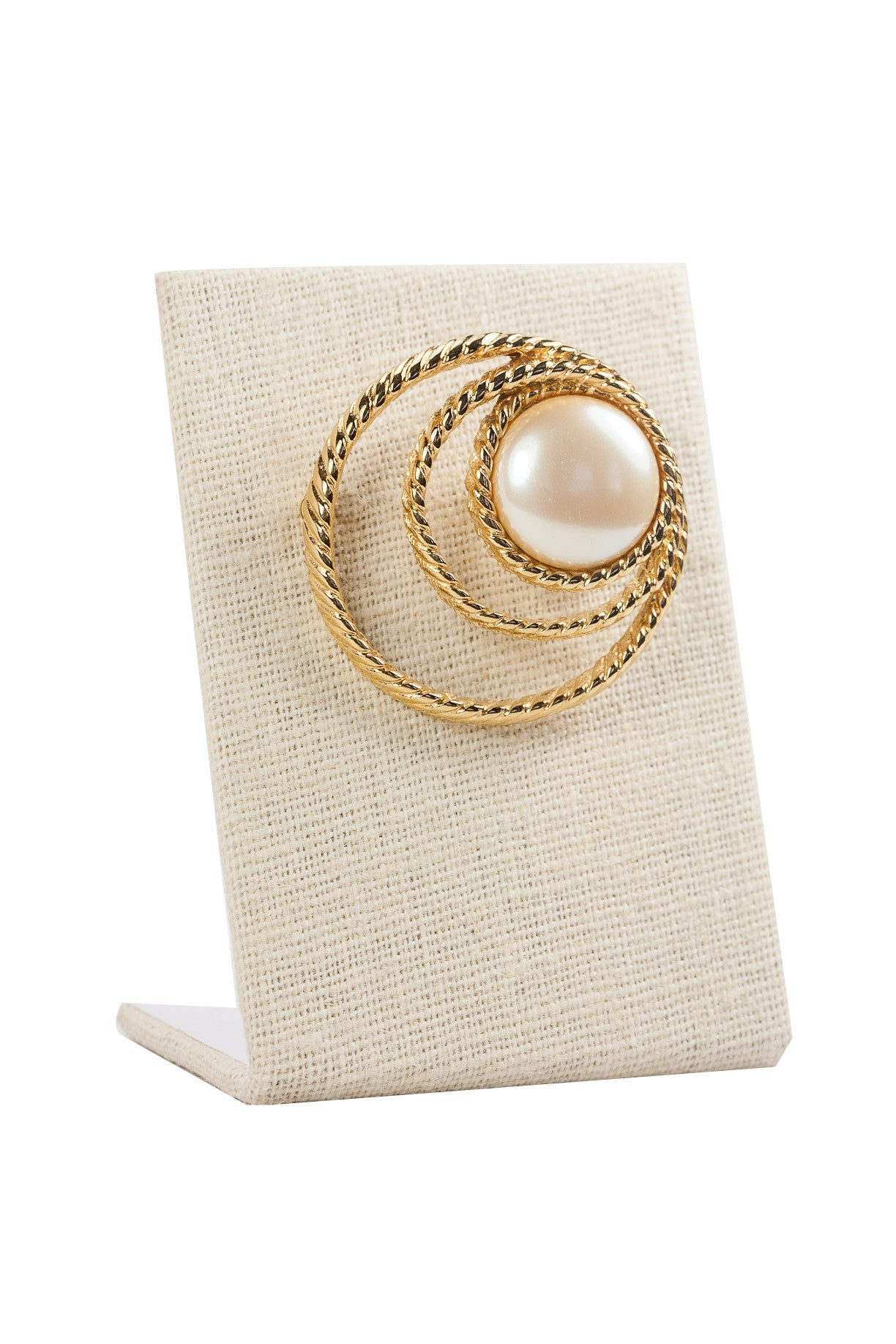 80's__Monet__Pearl Wrapped Brooch